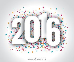 Happy Year 2016 confetti wallpaper