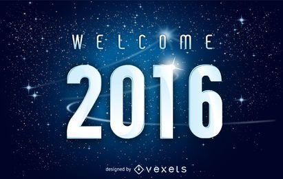 Imagen de espacio de año nuevo 2016