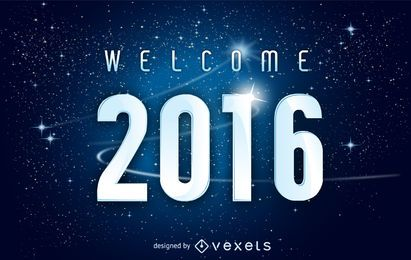 Raumbild des neuen Jahres 2016