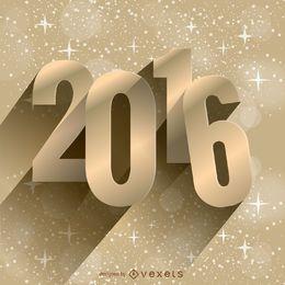 Fondo dorado de año nuevo 2016