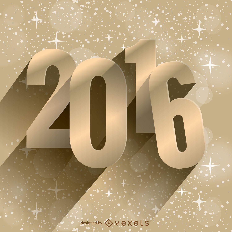 2016 New Year Golden Background