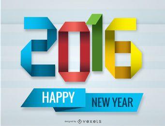 2016 año nuevo origami