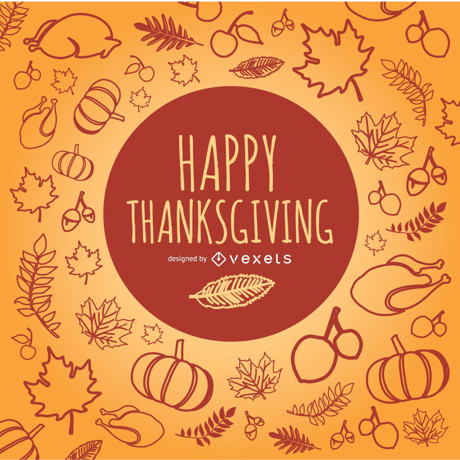 Garabatos de Feliz Acción de Gracias