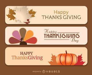 Banners de Ação de Graças