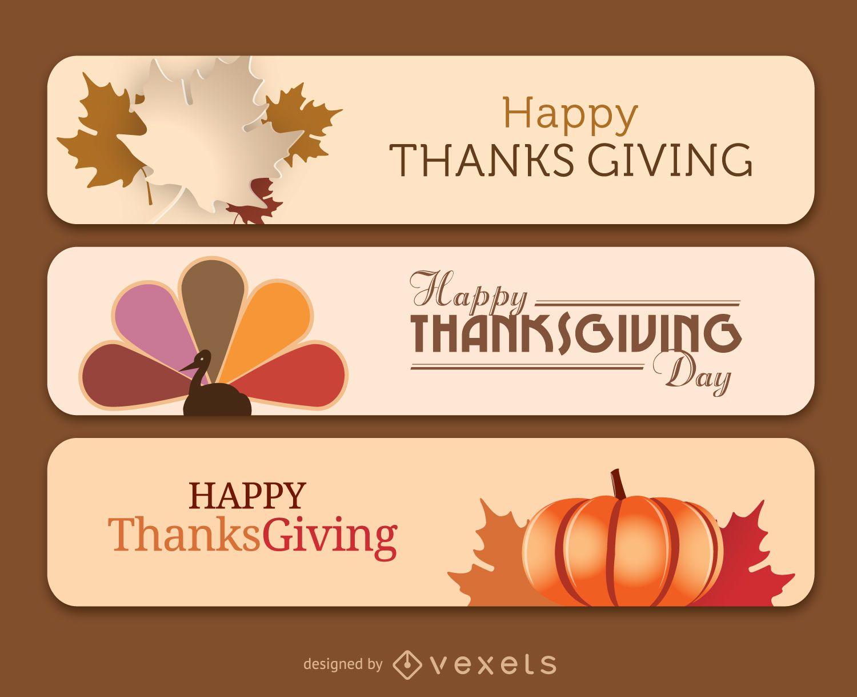 Banners de acción de gracias