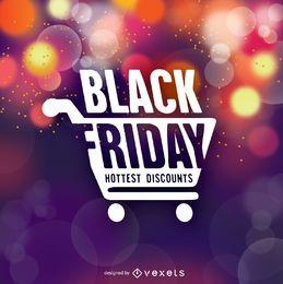 Black Friday-Symbol über Bokeh-Hintergrund