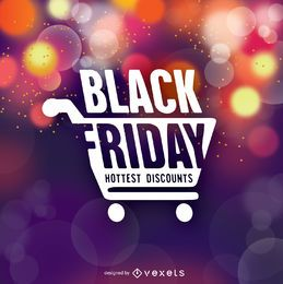 Schwarzer Freitag Symbol über Bokeh Hintergrund