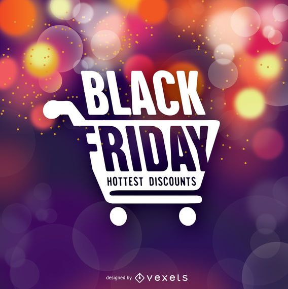 Black Friday symbol over bokeh background