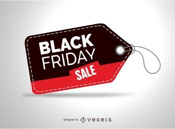 Tag preto da venda de sexta-feira