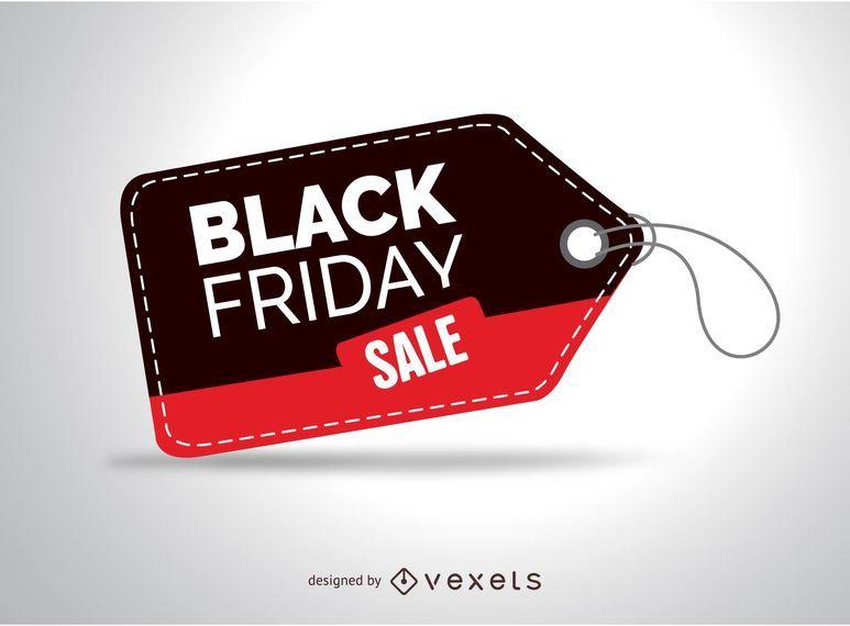 Etiqueta de venda de sexta feira preta