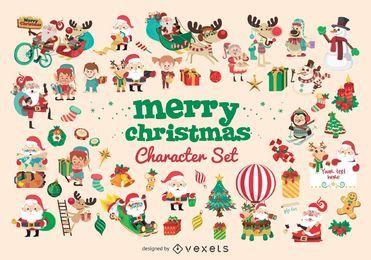 Großer Satz der Weihnachtszeichentrickfilm-figur