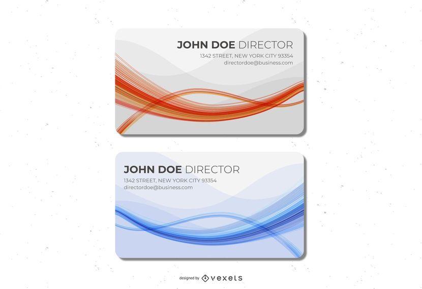 A laranja azul acena o cartão de visita