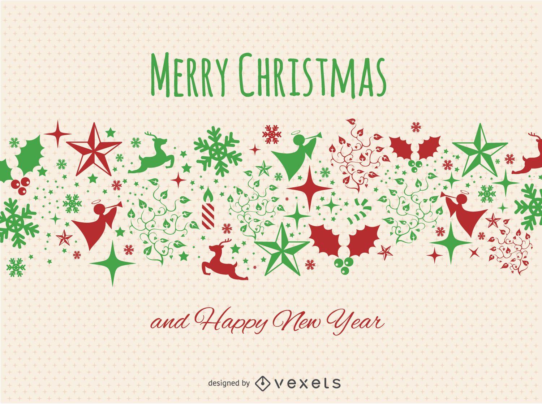 Christmas postcard - Vector download