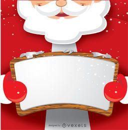 Papá Noel con tablero de mensajes