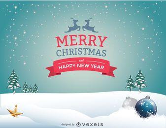 Schnee Weihnachtslandschaft Nachricht