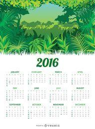 Jungle 2016 calendário