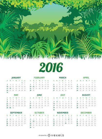 Dschungel 2016 Kalender