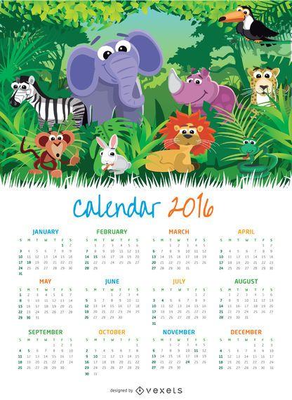 Animal Children 2016 calendário