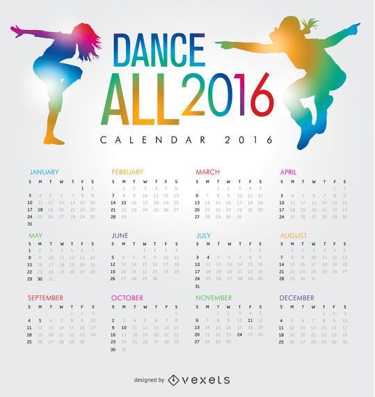 Dance 2016 calendar