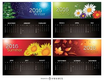 Calendario 2016 - 4 temporadas