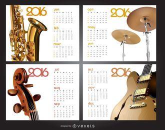 Music 2016 calendar