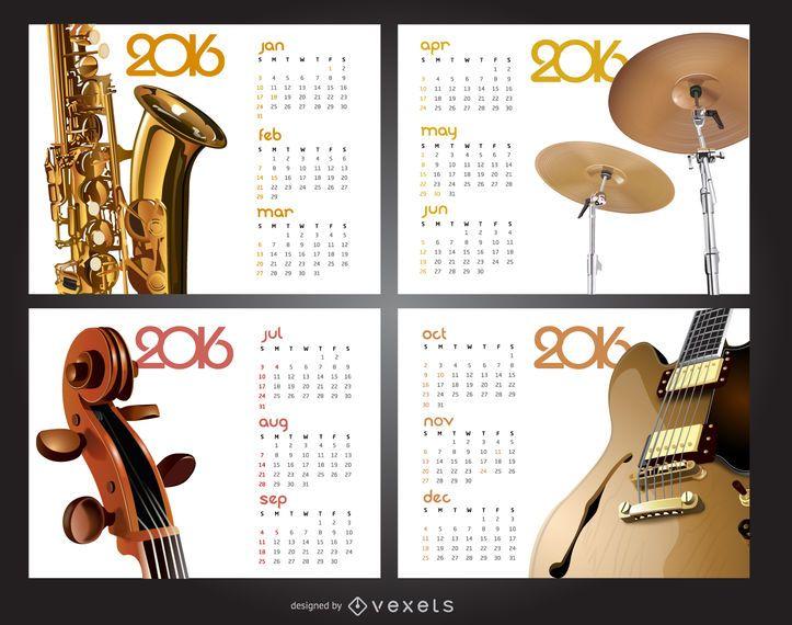 Calendário de música 2016