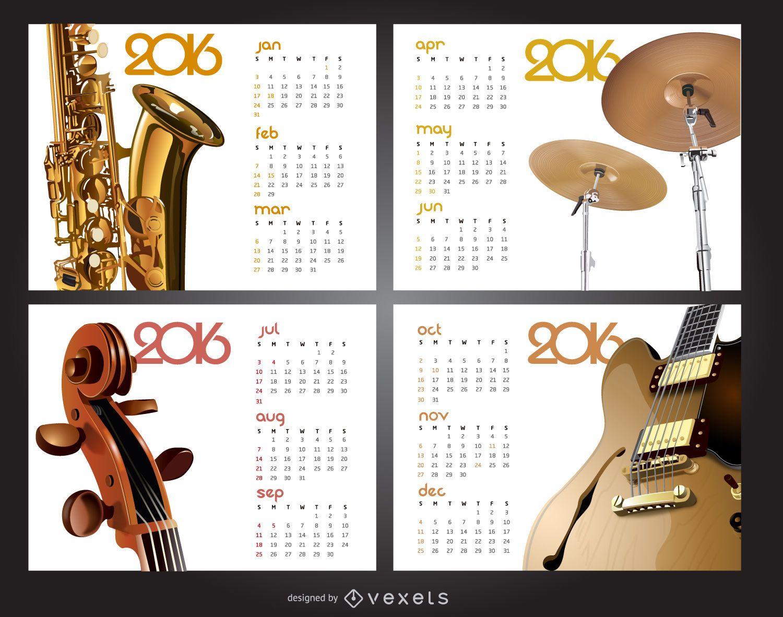 Calendario de m?sica 2016