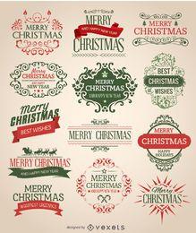 Weihnachts-Emblem-Set