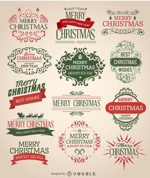 Conjunto de emblema de Natal