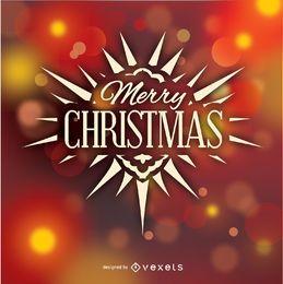 Frohe Weihnachten Logo Abzeichen