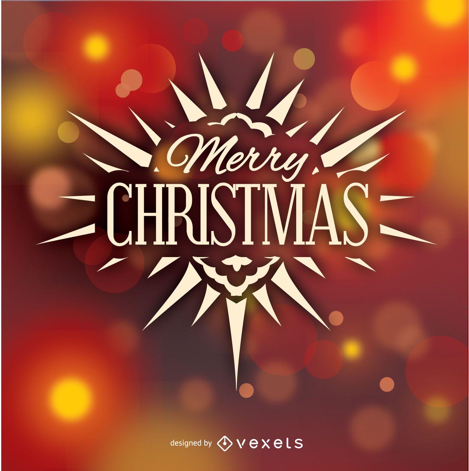 Insignia del logotipo de feliz Navidad