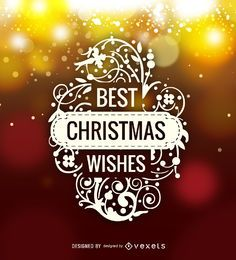 Best Christmas Wishes logo label