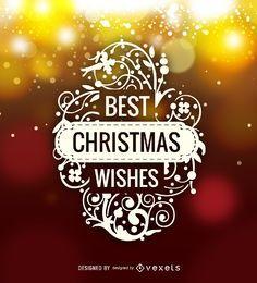 Melhor etiqueta de logotipo de desejos de Natal