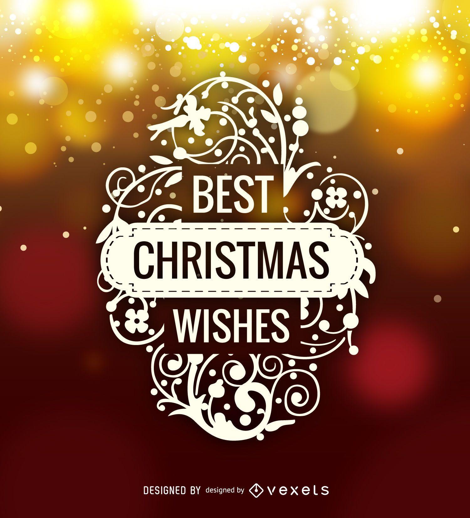 Etiqueta con el logotipo de Best Christmas Wishes