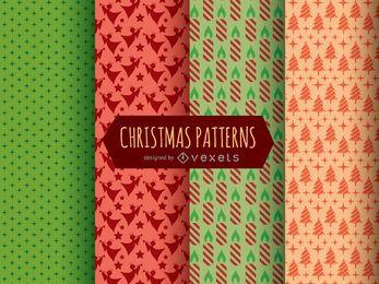 Patrones navideños y texturas.