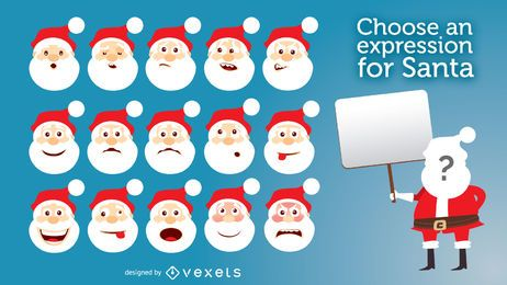 Funny Santa expressions