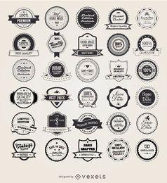 25 Retro Vintage Abzeichen und Etiketten