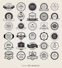 25 retro vintage badges and labels