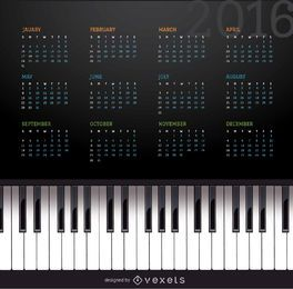 2016 Klavierkalender