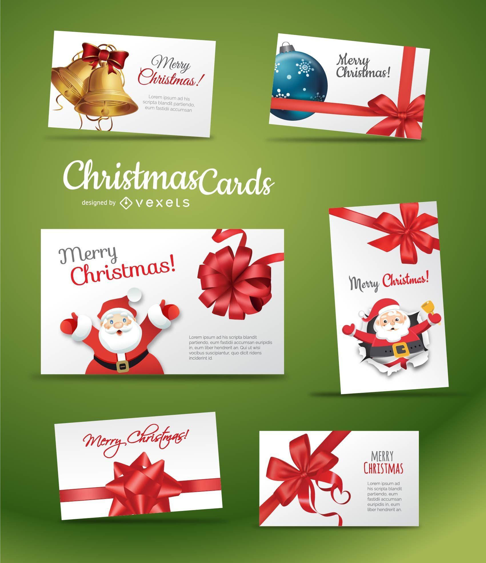 Set of beautiful Chrismas Card