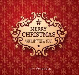 Insignia dorada de navidad
