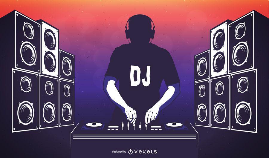 Póster DJ Disco Party