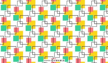 Minimales nahtloses Muster für mehrfarbige Quadrate