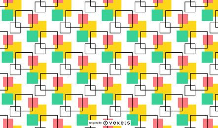 Multicolor Squares Minimal Seamless Pattern