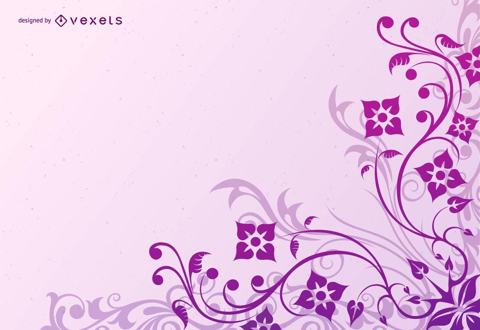 Decoración de esquina violeta remolino