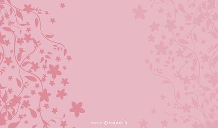 Fondo floral rosa de verano
