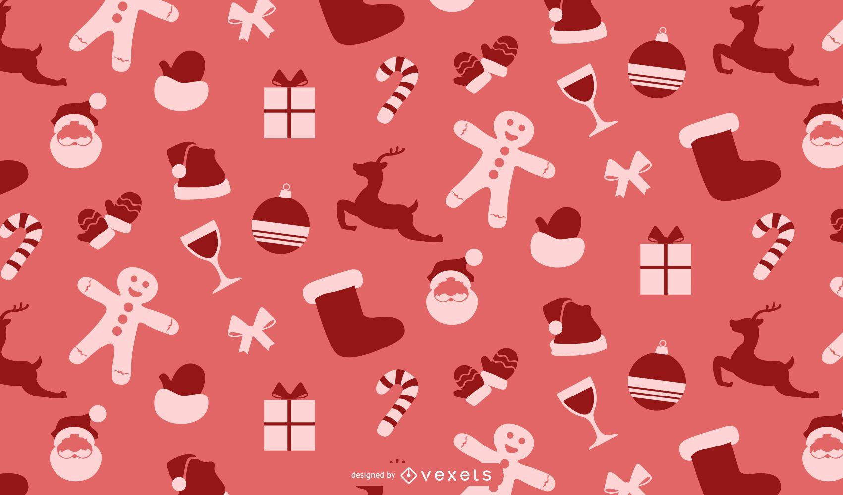 Diseño de vector de patrón de Navidad