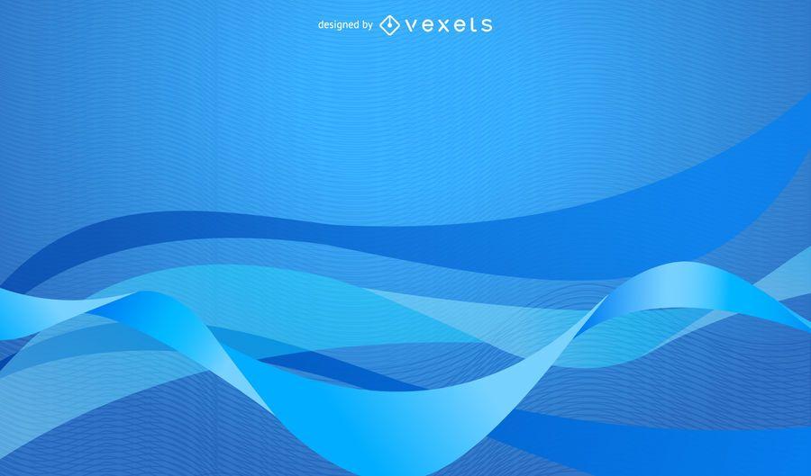 Fondo abstracto azul simple