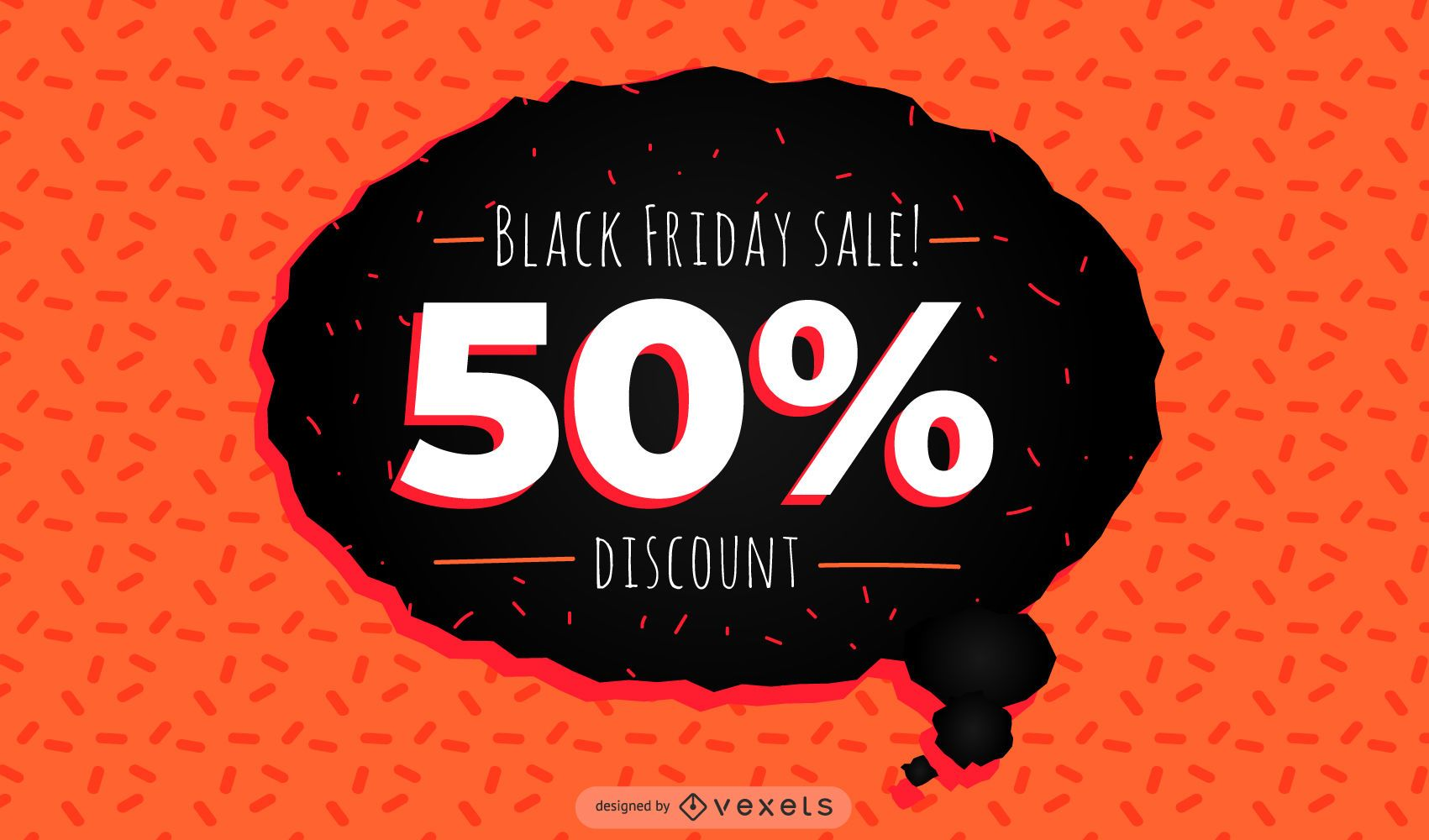 Black Friday Discount Banner Vector