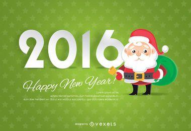 Fundo de Natal 2016 com Papai Noel